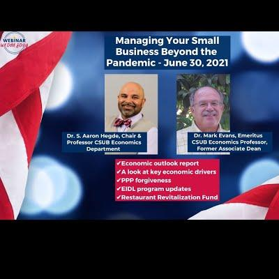 Managing Your Small Business Beyond the Pandemic - 6/30/2021
